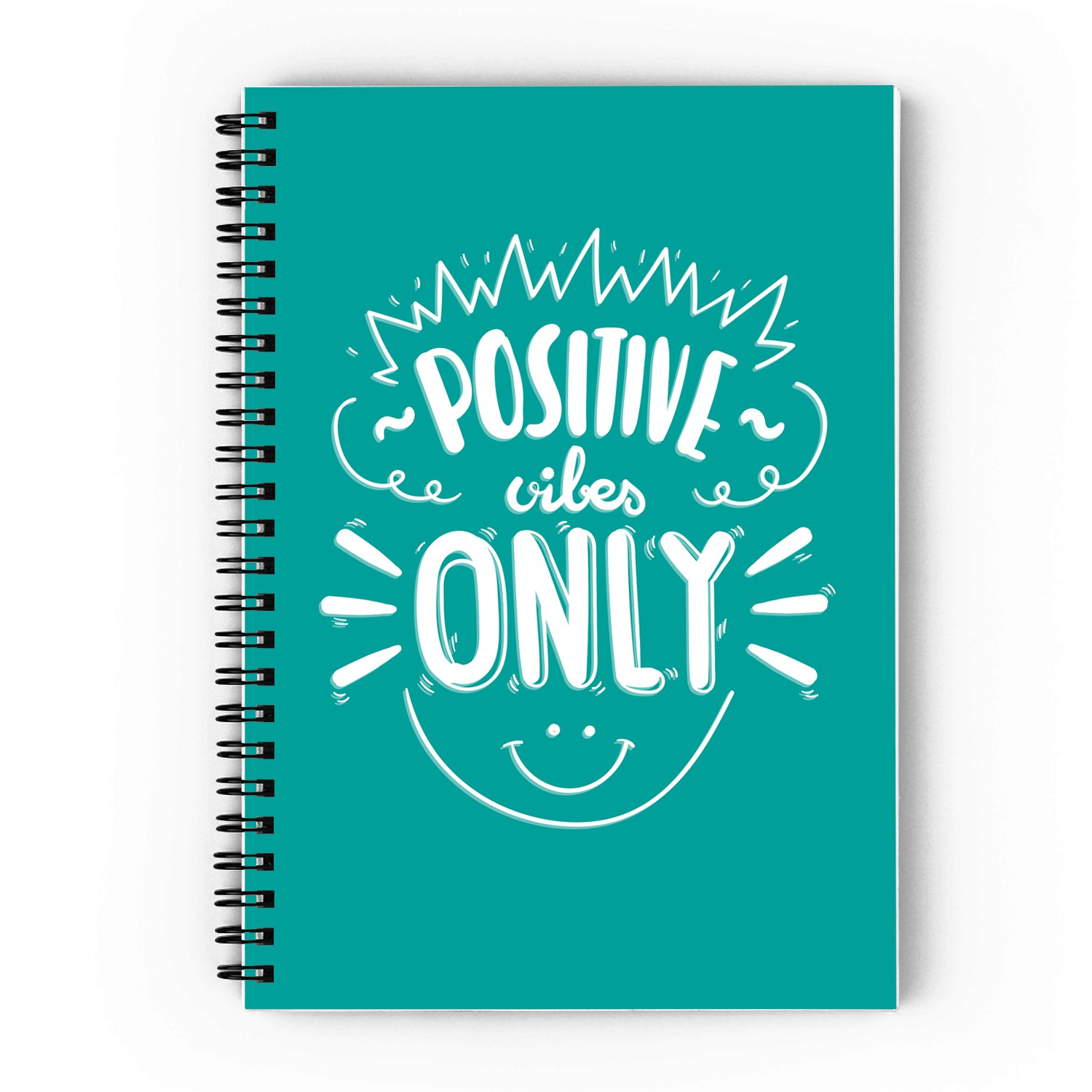 Positive Vibes Only Spiral Notebook