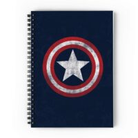 Captain America Spiral Notebook A5 Size