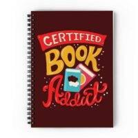 Book Addict Spiral Notebook