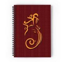 Ganesha Abstract Spiral Notebook